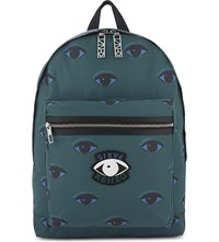 Kenzo Eyes Backpack Green
