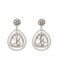 Susan Foster Diamond Slice Pave And White Gold Drop Earrings