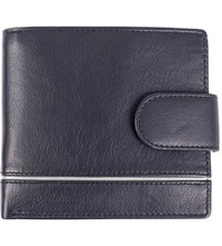 Dents Rfid Protection Leather Wallet Navy Charcoal