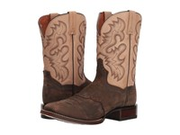 Dan Post Vance Chocolate Bone Leather Cowboy Boots Brown