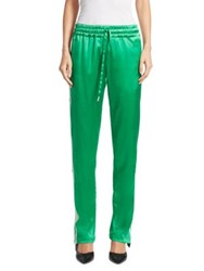 Monse Side Snap Track Pants Navy Red Green White