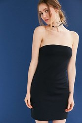 Silence And Noise Tubular Double Layer Strapless Dress Black