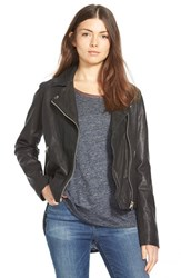 Madewell Women's Washed Leather Motorcycle Jacket