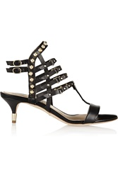 Jerome C. Rousseau Camden Studded Leather Sandals Black