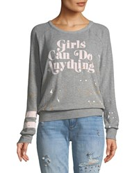 Chaser Girls Can Do Anything Sweatshirt Gray