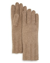 Bloomingdale's C By Elevated Ribbed Glove 100 Exclusive Oatmeal