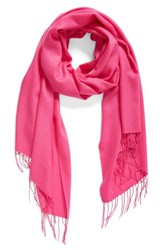 Nordstrom Women's Tissue Weight Wool And Cashmere Scarf Pink Raspberry