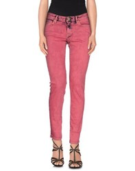 Vivienne Westwood Anglomania Denim Denim Trousers Women Red