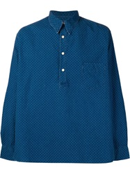 Levi's Vintage Clothing Dotted Print Shirt Blue