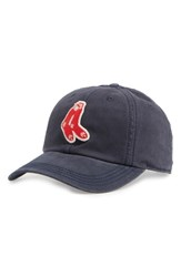 American Needle Men's New Timer Mlb Snapback Baseball Cap Blue Red Sox