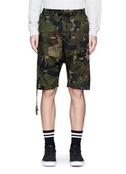 Haculla 'Saber' Patch Camouflage Print Shorts Green
