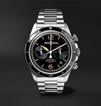 Bell And Ross Br V2 94 Heritage Chronograph 41Mm Stainless Steel Watch Black