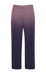 Versace Cropped Degrade Check Pant Print