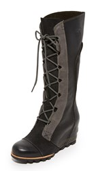 Sorel Cate The Great Wedge Boots Black