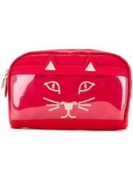 Charlotte Olympia Cat Face Clutch Women Nylon One Size Red