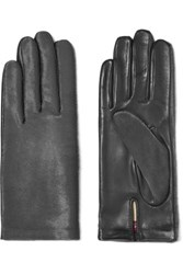 Agnelle Calf Hair And Leather Gloves Black