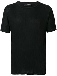 Tom Rebl Crew Neck T Shirt Black