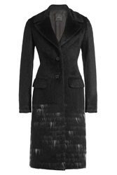 Agnona Alpaca And Wool Coat Black