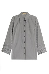 Michael Kors Striped Cotton Shirt Stripes