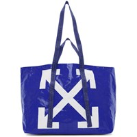 Off White Blue New Commercial Tote