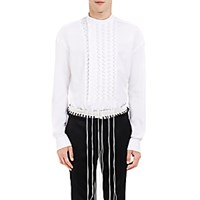 Haider Ackermann Men's Byron Lace Up Shirt White