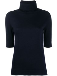 Snobby Sheep Short Sleeved Knitted Top Blue