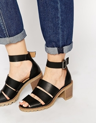 Truffle Collection Zada Strappy Heeled Sandals Blackpu