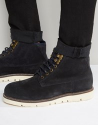 Armani Jeans Suede Boots Navy Blue