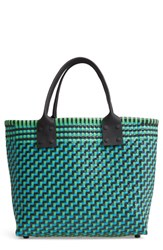 Truss Medium Woven Tote Green Turquoise Green