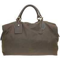 Barbour Wax Cotton Travel Explorer Holdall Olive