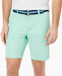 Club Room Men's Classic Fit Stretch Shorts Created For Macy's Garden Mint