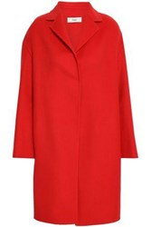 Pringle Wool And Cashmere Blend Coat Red