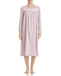 Eileen West Long Sleeve Knit Ballet Gown Pink Gray Floral