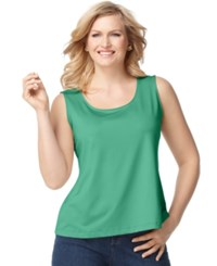 Charter Club Plus Size Tank Top Chilled Mint