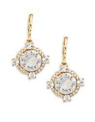 Kate Spade Crystal Cascade Stone Accented Lever Back Earrings Yellow Gold