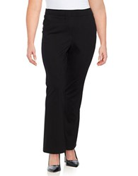 Bobeau Plus Solid Fit And Flare Pants Black