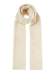 Linea Cable Knit Scarf Cream