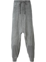 Lost And Found Rooms Drop Crotch Trousers Grey