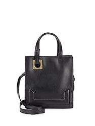 Halston Leather Crossbody Bag Black