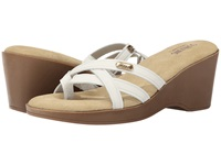 Bass Whitley White Nubuck Leather Women's Sandals
