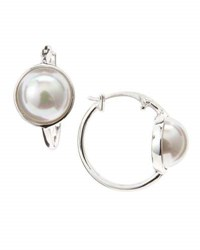 Majorica Mabe Pearl Hoop Earrings