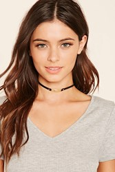 Forever 21 Bar Charm Faux Leather Choker