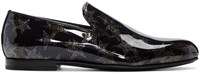 Jimmy Choo Black Star Sloane Loafers
