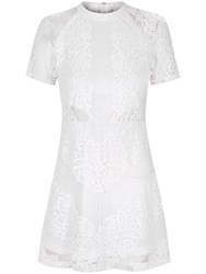 True Decadence Lace Skater Dress White
