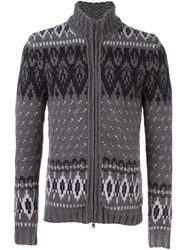 Woolrich Zipped Cardigan Grey