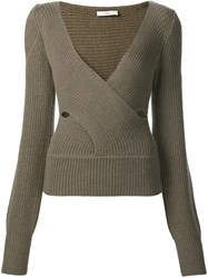 Tome Crossover Sweater Green