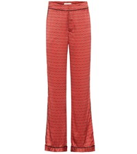 Johanna Ortiz Florinda Silk Trousers Red