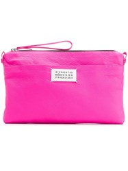 Maison Martin Margiela Envelope Clutch Pink And Purple