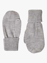 French Connection Knitted Mittens Light Grey