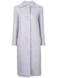 Nina Ricci Classic Long Coat Pink Purple